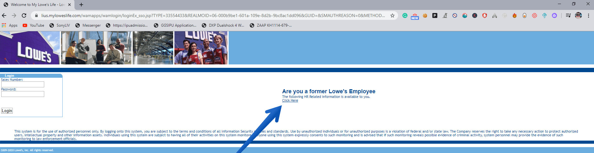 Former Employee Myloweslife Login